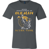 OLD MAN WITH A SCUBA TANK - Vietees Shop Online