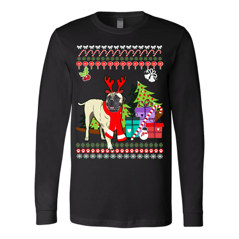 Bullmastiff Ugly Christmas Sweater - Vietees Shop Online - 1
