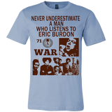 Never underestimate a man who listens to Eric Burdon T-shirt - Vietees Shop Online