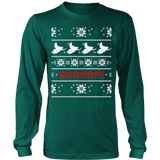 Snowmobile snowmobiler ugly christmas sweater xmas - Vietees Shop Online