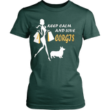 KEEP CLAM AND LOVE CORGIS - Vietees Shop Online