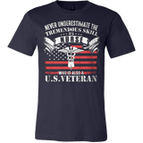 Never underestimate the tremendous skill of a nurse who is also a us veteran Front t shirt - Vietees Shop Online