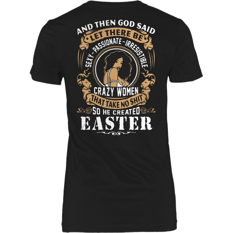EASTER - CRAZY WOMEN T-SHIRT - Vietees Shop Online