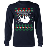 Merry slothin christmas ugly sweater - Vietees Shop Online