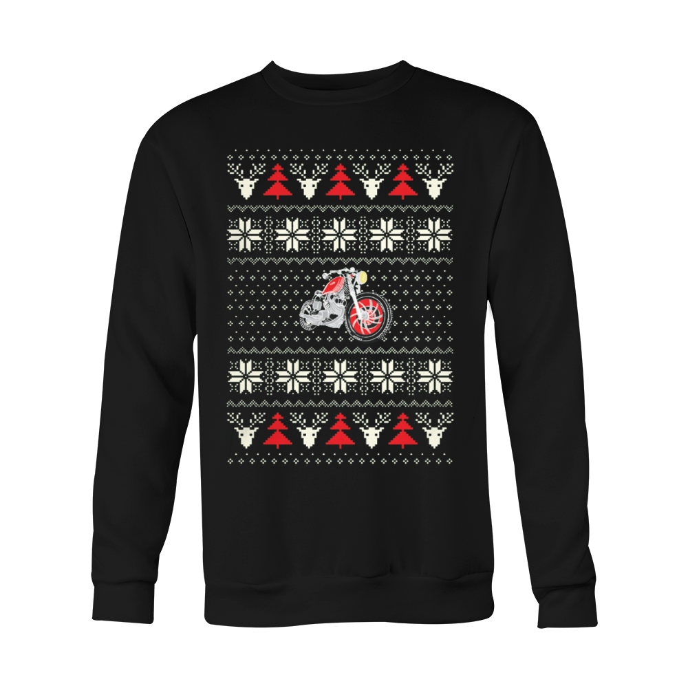 MOTORCYCLE Ugly Christmas Sweatshirt - HQ - Vietees Shop Online