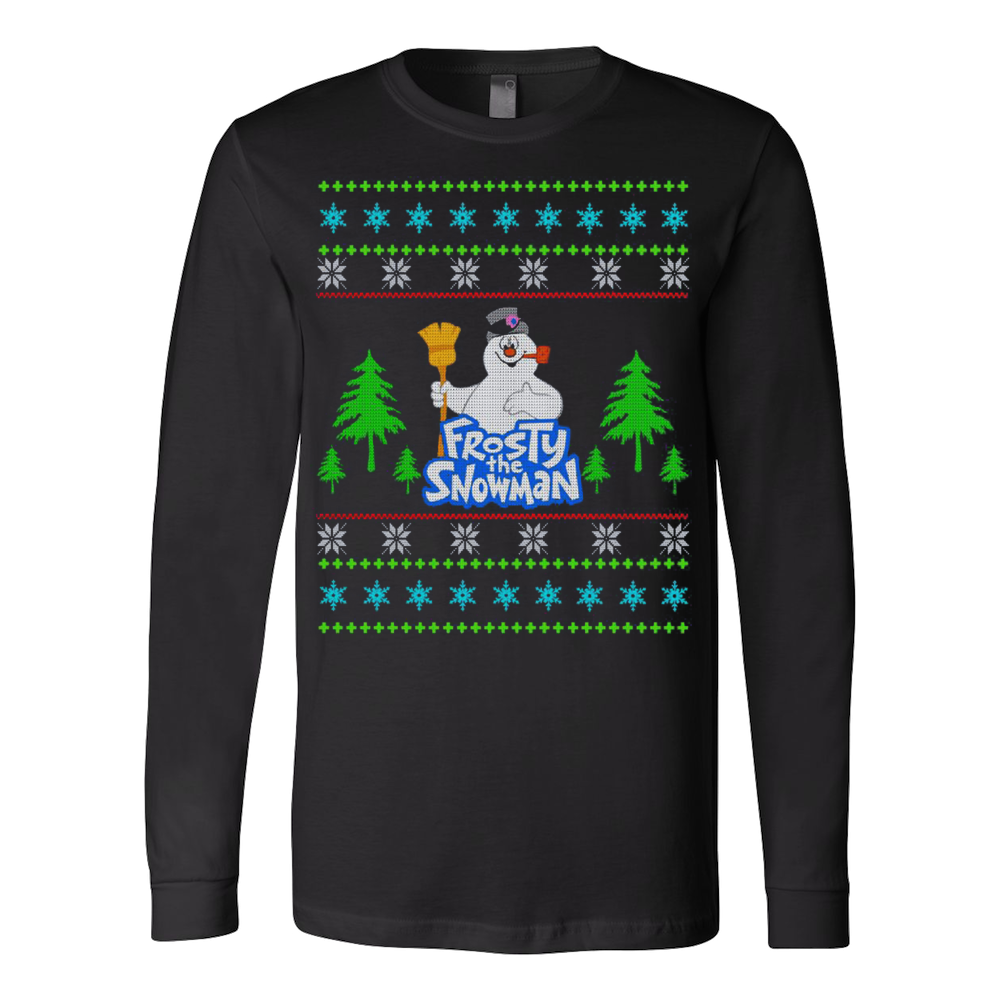 FROSTY THE SNOWMAN- UGLY CHRISTMAS SWEATERS T-Shirt – Vietees Shop ...