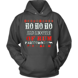 HO HO HO UGLY CHRISTMAS SWEATER HOODIE - Vietees Shop Online