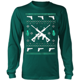 Assault Rifle Ugly Christmas Sweatshirt - Vietees Shop Online - 12