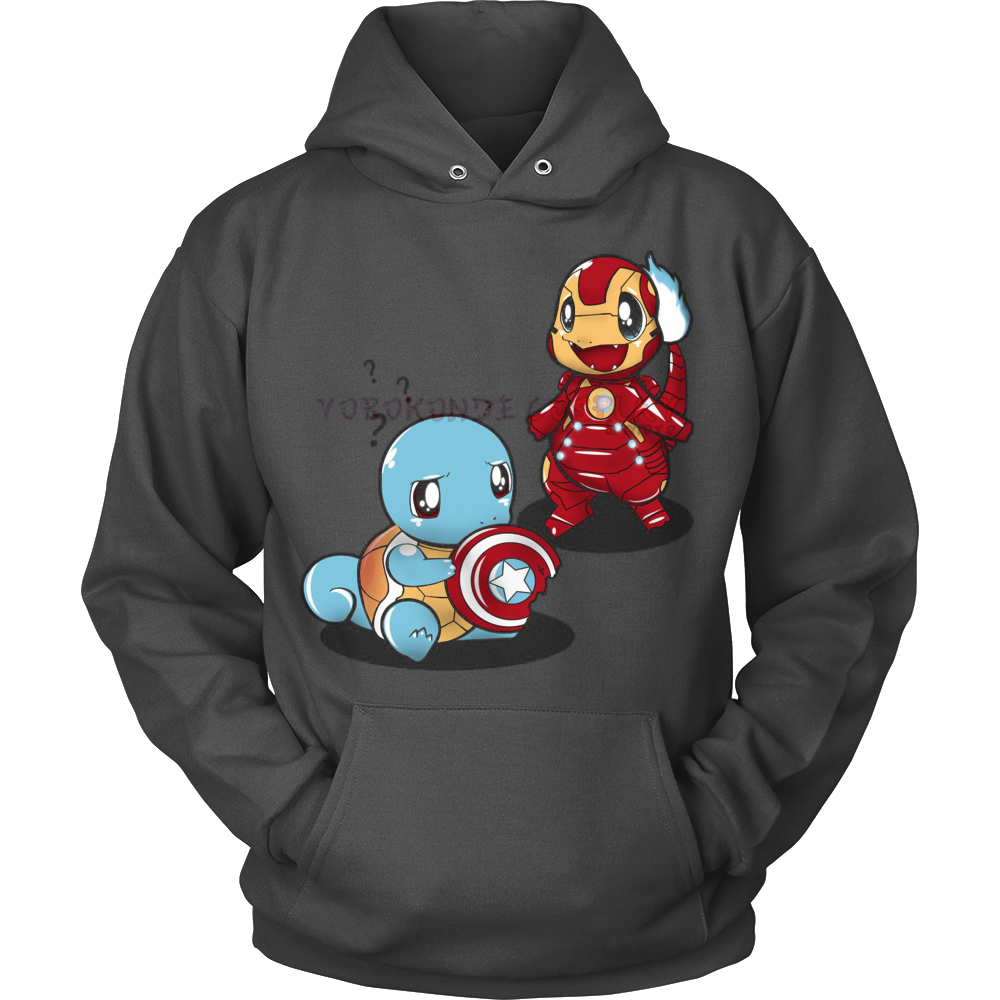Pokemon Charmander Squirtle Civil War Hoodie - Vietees Shop Online