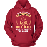 YOU ATTRACT WHAT YOU IMAGINE HOODIE - Vietees Shop Online