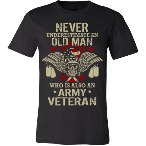 Never Underestimate Army Veteran - Vietees Shop Online