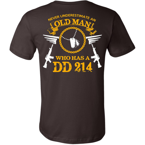 Never Underestimate an Old Man who has a DD 214 T-shirt - Vietees Shop Online