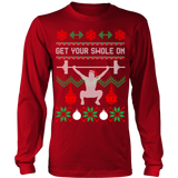 Get your swole on christmas gym weights ugly christmas sweater - Vietees Shop Online