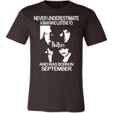 Never Underestimate a Man who listens to the Beatles and was born in September T-shirt - Vietees Shop Online
