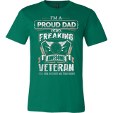 I'M A PROUD DAD OF A FREAKING AWESOME VETERAN - Vietees Shop Online