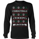 Chrismas deer hunting ugly sweater - Vietees Shop Online - 8
