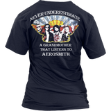 Never Underestimate a Grandmother that listens to Aerosmith V-neck and  Hooded T-shirt - Vietees Shop Online