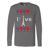 Peace and pray for paris ugly christmas sweater xmas - Vietees Shop Online - 3
