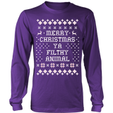 Merry Chrismas Ya Filthy animal Ugly Sweater - Vietees Shop Online