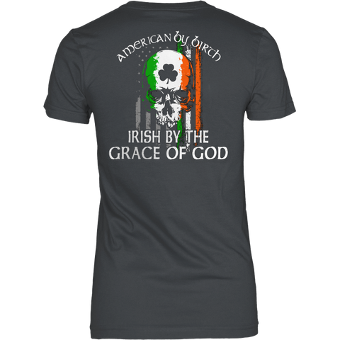 AMERICAN IRISH BY GRACE OF GOD T-SHIRT - Vietees Shop Online