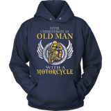 Never Underestimate An Old Man With A Motorcycle Hoodies - Vietees Shop Online