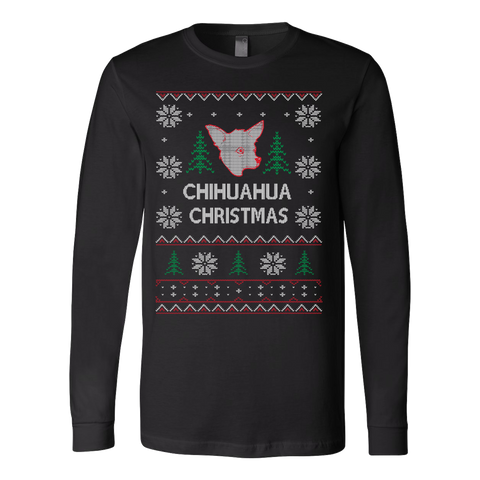 Chihuahua chihuahua ugly christmas sweater - Vietees Shop Online - 1