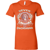 Never Underestimate the power of a Woman with a Dachshund - Vietees Shop Online