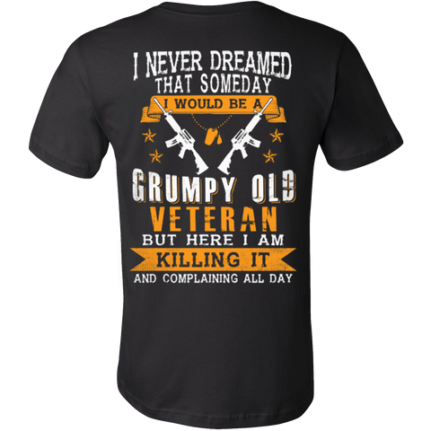 Grumpy Old Veteran T-shirt - Vietees Shop Online