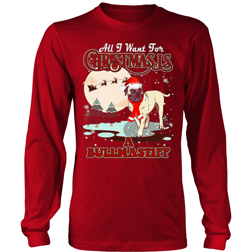 Bullmastiff Ugly Christmas Sweater Hoodie - Vietees Shop Online