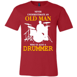 NEVER UNDERESTIMATE AN OLD MAN WHO IS ALSO A DRUMMER T-SHIRT - Vietees Shop Online