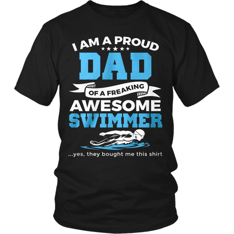 Proud Dad of An Awesome Swimmer - Vietees Shop Online