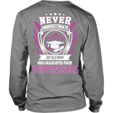 Never Underestimate an old man who graduated from Shippensburg T-shirt - Vietees Shop Online