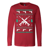 Assault Rifle Ugly Christmas Sweatshirt - Vietees Shop Online - 7