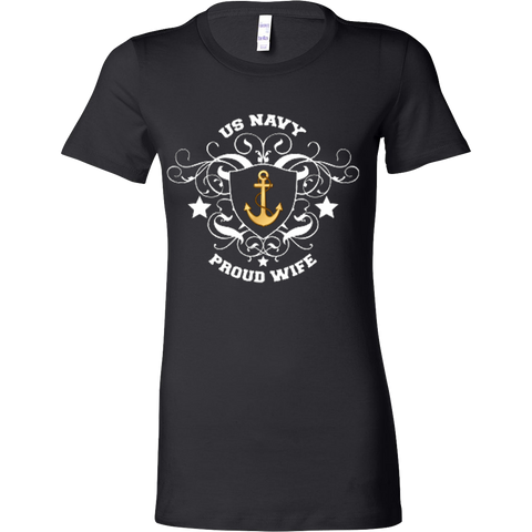 US Navy Crest -Proud Wife - Vietees Shop Online