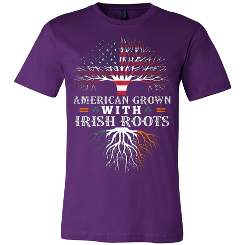 AMERICAN Grown with IRISH Roots T-shirt - Vietees Shop Online