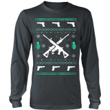 Assault Rifle Ugly Christmas Sweatshirt - Vietees Shop Online - 10