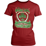 IRISH GIRL SPEAKS FLUENT SARCASM T-SHIRT - Vietees Shop Online