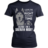 Because I am a Siberian Husky T-shirt - Vietees Shop Online