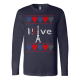 Peace and pray for paris ugly christmas sweater xmas - Vietees Shop Online - 2