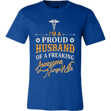I'm a Proud Husband Of A Freaking Awesome Nurse Wife - Vietees Shop Online