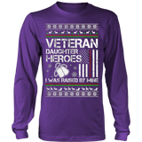 VETERAN DAUGHTER UGLY CHRISTMAS SWEATSHIRT - Vietees Shop Online - 13