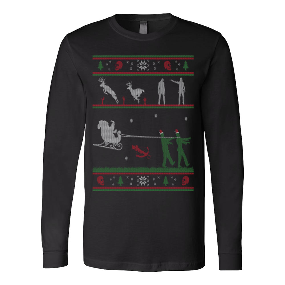 Ugly christmas sweater zombie - Vietees Shop Online