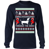 Dachshund through the snow christmas ugly sweater - Vietees Shop Online