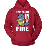 POKEMON SQUIRTLE USE SHIRT IN CASE OF FIRE HOODIE - Vietees Shop Online - 4