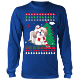 Christmas Ugly Sweater - SHIH TZU DOG - Vietees Shop Online - 12