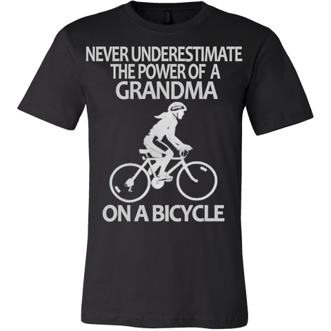 Never Underestimate The Power of a Grandma on a Bicycle T-shirt - Vietees Shop Online