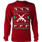 Assault Rifle Ugly Christmas Sweatshirt - Vietees Shop Online - 15