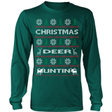 Chrismas deer hunting ugly sweater - Vietees Shop Online - 11