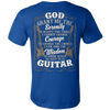 Image of Guitar Serenity Back Print T-Shirt - Vietees Shop Online