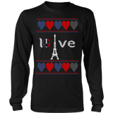 Peace and pray for paris ugly christmas sweater xmas - Vietees Shop Online - 8